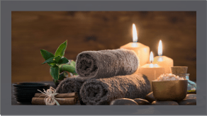 Massage Candles and Towel